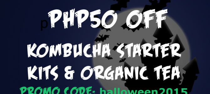 Happy Halloween! Get 50 Pesos Off Kombucha Starter Kits & More