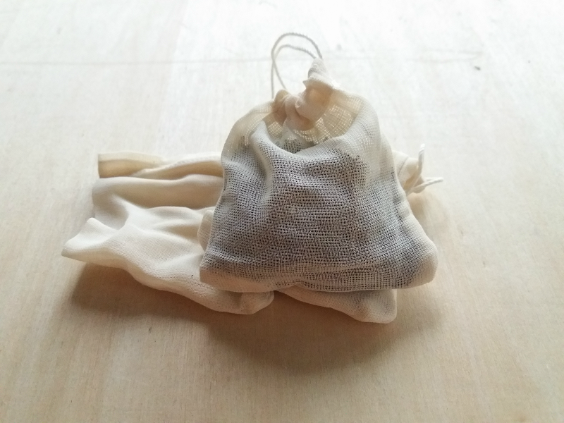 muslin cloth tea infuser