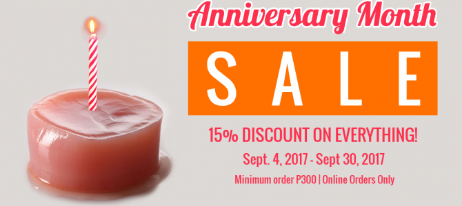 Anniversary Month Sale!