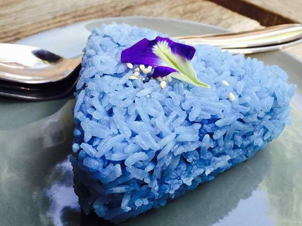blue rice recipe